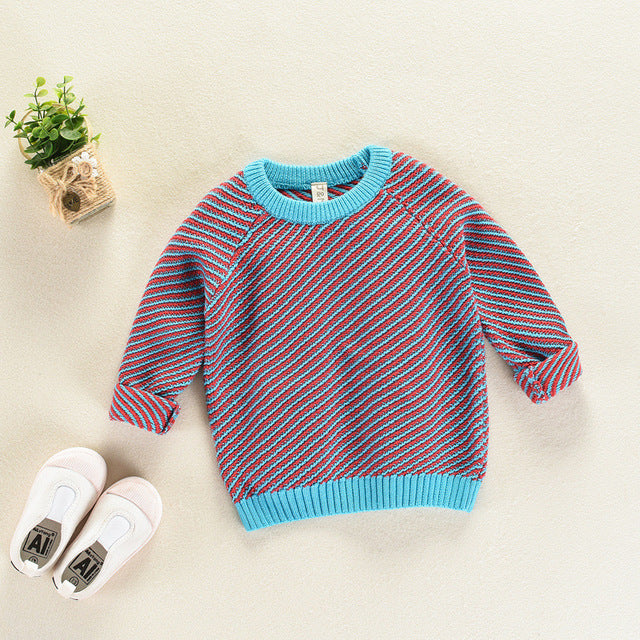 Custom Knit Striped Sweater -  Hipster Kids Style. Youth Clothing and apparel Outfitters for hipster kids, toddlers, and babies.
