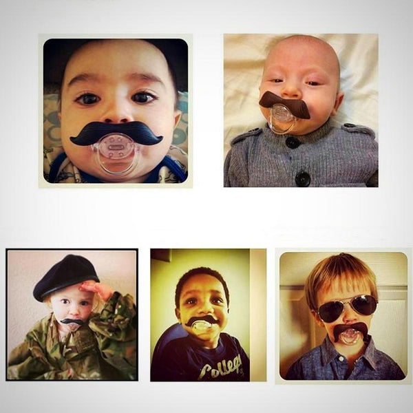 Baby Moustache Pacifier -  Hipster Kids Style. Youth Clothing and apparel Outfitters for hipster kids, toddlers, and babies.