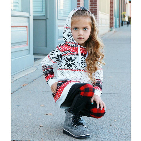 Winter Stripe Hoodie Sweatshirt -  Hipster Kids Style. Youth Clothing and apparel Outfitters for hipster kids, toddlers, and babies.