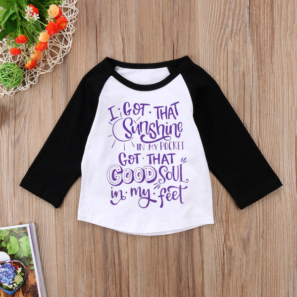 I Got That Sunshine In My Pocket T-Short -  Hipster Kids Style. Youth Clothing and apparel Outfitters for hipster kids, toddlers, and babies.