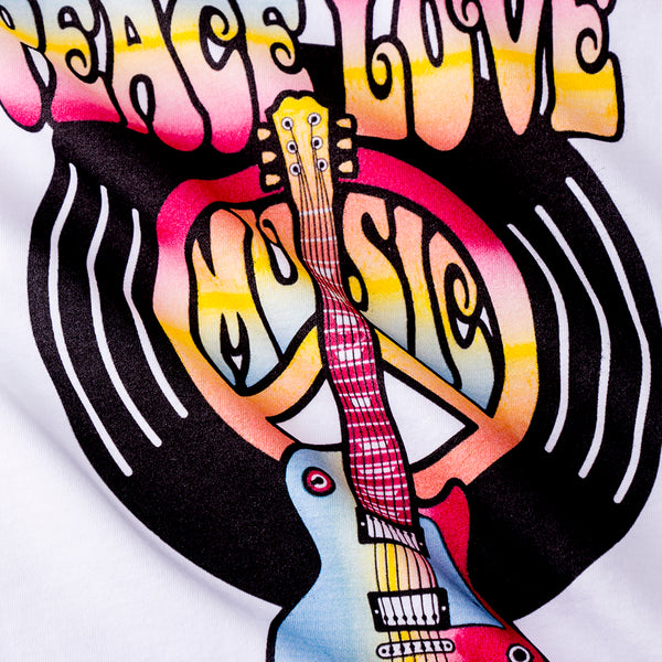 Peace Love and Music Girls Tank -  Hipster Kids Style. Youth Clothing and apparel Outfitters for hipster kids, toddlers, and babies.