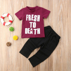 Fresh To Death 2pc Outfit -  Hipster Kids Style. Youth Clothing and apparel Outfitters for hipster kids, toddlers, and babies.