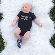 Gangsta Napper Baby Onesie -  Hipster Kids Style. Youth Clothing and apparel Outfitters for hipster kids, toddlers, and babies.