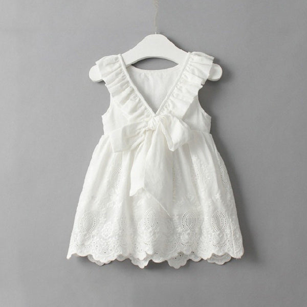 Simple White Sleeveless Party Dress -  Hipster Kids Style. Youth Clothing and apparel Outfitters for hipster kids, toddlers, and babies.