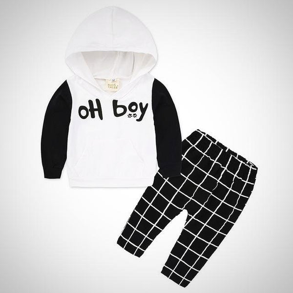 OH BOY White 2pc Outfit -  Hipster Kids Style. Youth Clothing and apparel Outfitters for hipster kids, toddlers, and babies.