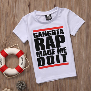 Gangster Rap Made Me Do It T-Shirt -  Hipster Kids Style. Youth Clothing and apparel Outfitters for hipster kids, toddlers, and babies.