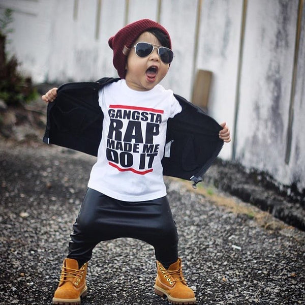 565392de7a17 Gangster Rap Made Me Do It T-Shirt - Hipster Kids Style. Youth Clothing ...