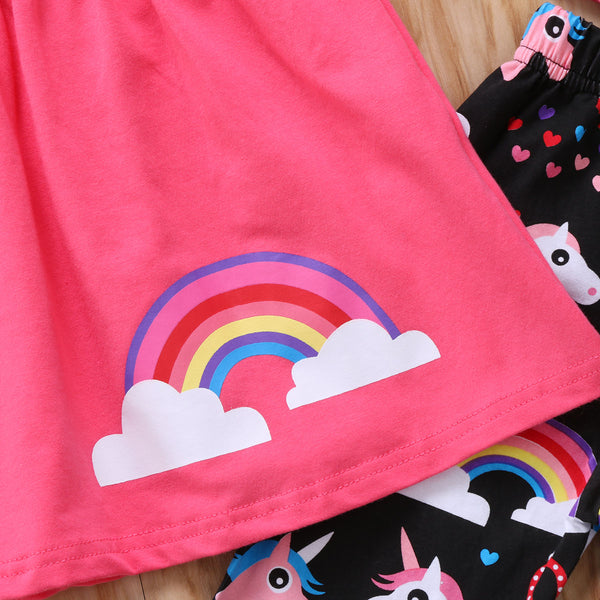 Rainbow Unicorn 2pc Autumn Outfit -  Hipster Kids Style. Youth Clothing and apparel Outfitters for hipster kids, toddlers, and babies.