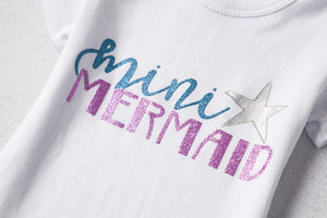 Mini Mermaid 2pc Outfit -  Hipster Kids Style. Youth Clothing and apparel Outfitters for hipster kids, toddlers, and babies.