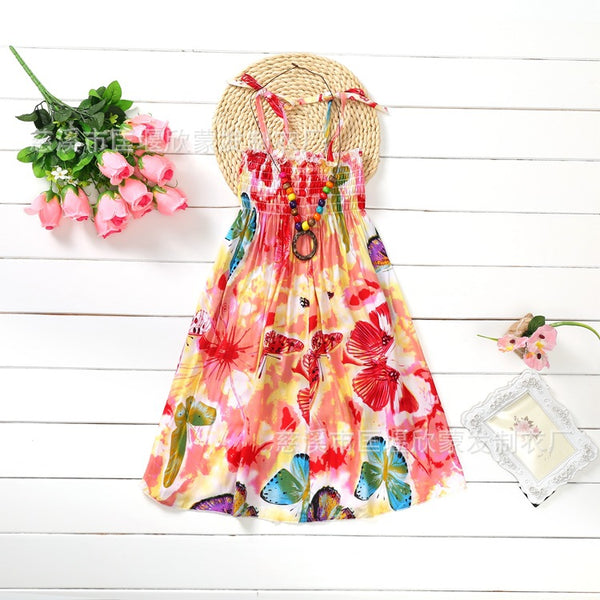 Floral Butterfly Bohemian Sundress -  Hipster Kids Style. Youth Clothing and apparel Outfitters for hipster kids, toddlers, and babies.