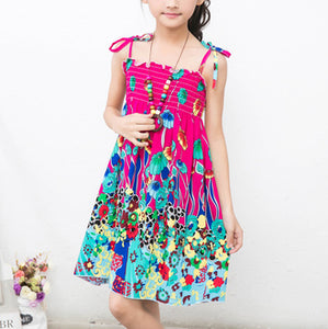 Hot Pink Summer Bohemian Style Dress -  Hipster Kids Style. Youth Clothing and apparel Outfitters for hipster kids, toddlers, and babies.