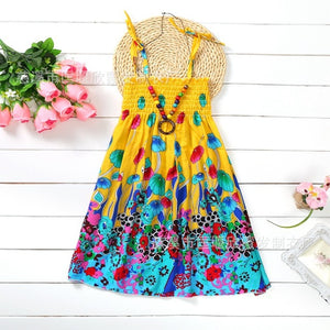 Yellow Beaded Bohemian Sundress -  Hipster Kids Style. Youth Clothing and apparel Outfitters for hipster kids, toddlers, and babies.