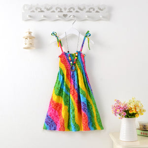 Rainbow Beaded Neckless Sundress -  Hipster Kids Style. Youth Clothing and apparel Outfitters for hipster kids, toddlers, and babies.