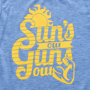 Suns Out Guns Out Baby Blue Tank -  Hipster Kids Style. Youth Clothing and apparel Outfitters for hipster kids, toddlers, and babies.