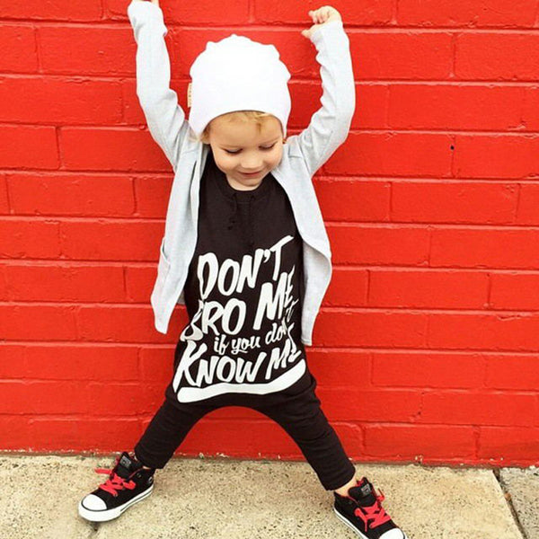 Don't Bro Me Baby Onesie -  Hipster Kids Style. Youth Clothing and apparel Outfitters for hipster kids, toddlers, and babies.