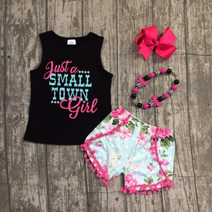 Small Town Girl 2pc Outfit with Accessories -  Hipster Kids Style. Youth Clothing and apparel Outfitters for hipster kids, toddlers, and babies.