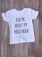 Ask Me About My Neigh Neigh T-Shirt -  Hipster Kids Style. Youth Clothing and apparel Outfitters for hipster kids, toddlers, and babies.
