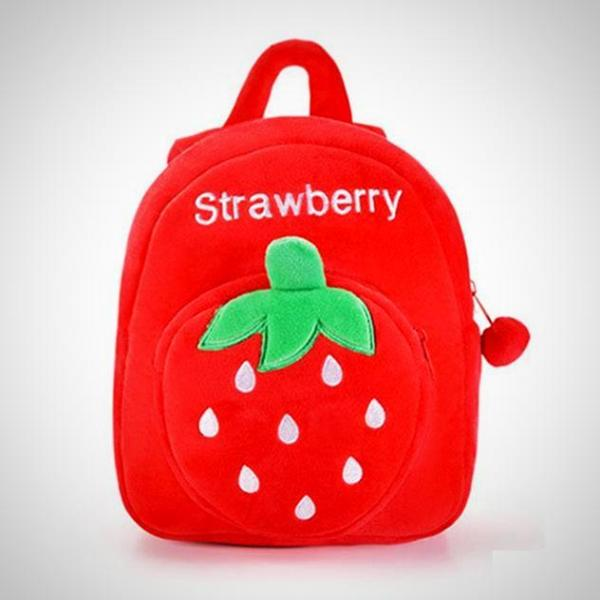 Red Strawberry Toddler Fruit Backpack -  Hipster Kids Style. Youth Clothing and apparel Outfitters for hipster kids, toddlers, and babies.