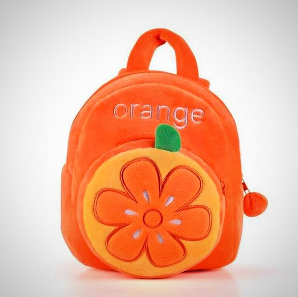 Orange Toddler Fruit Themed Backpack -  Hipster Kids Style. Youth Clothing and apparel Outfitters for hipster kids, toddlers, and babies.