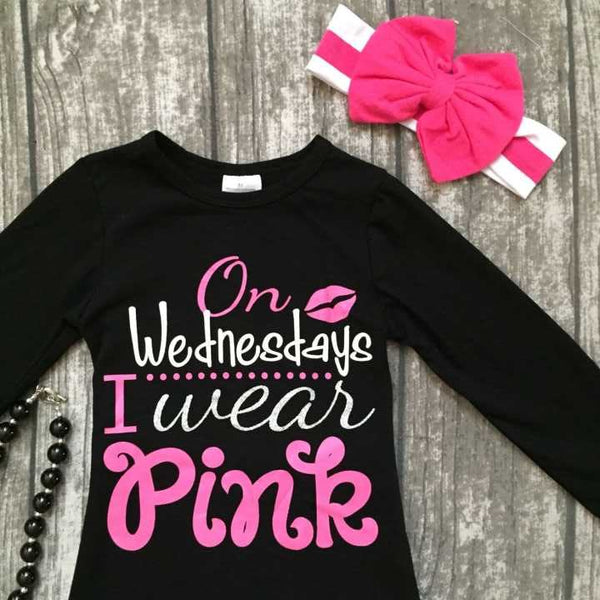 On Wednesday I Wear Pink 2pc Outfit -  Hipster Kids Style. Youth Clothing and apparel Outfitters for hipster kids, toddlers, and babies.