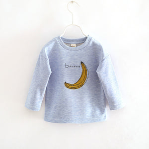Banana Print Sweatshirt -  Hipster Kids Style. Youth Clothing and apparel Outfitters for hipster kids, toddlers, and babies.