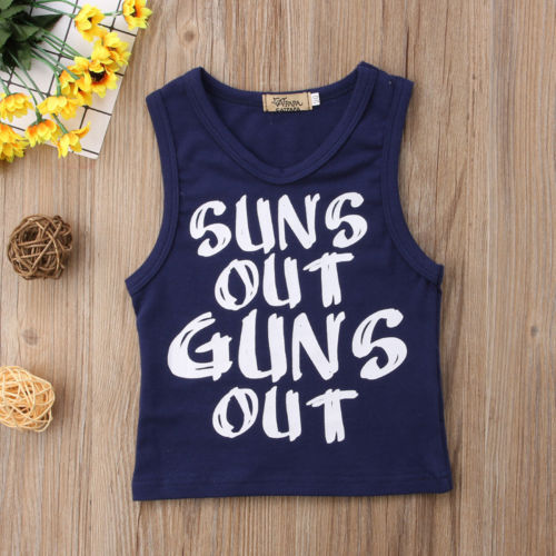 Suns Out Guns Out Tank -  Hipster Kids Style. Youth Clothing and apparel Outfitters for hipster kids, toddlers, and babies.