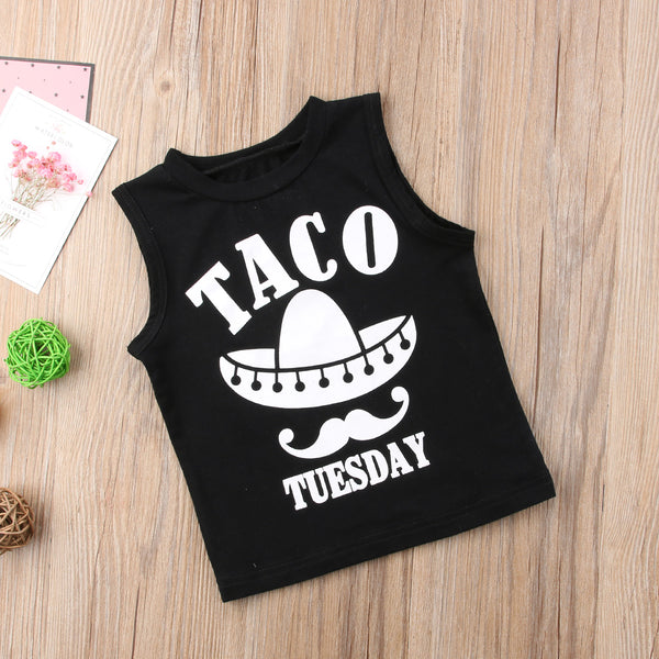 Taco Tuesday Tank -  Hipster Kids Style. Youth Clothing and apparel Outfitters for hipster kids, toddlers, and babies.