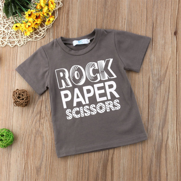 Rock Paper Scissors T-Shirt -  Hipster Kids Style. Youth Clothing and apparel Outfitters for hipster kids, toddlers, and babies.