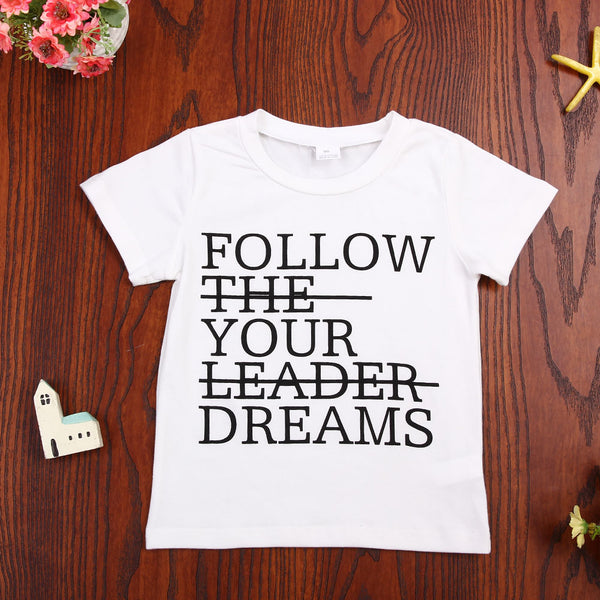 Follow Your Dreams T-Shirt -  Hipster Kids Style. Youth Clothing and apparel Outfitters for hipster kids, toddlers, and babies.