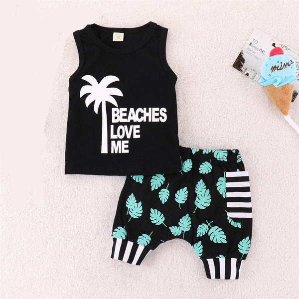 Beaches Love Me 2pc Outfit -  Hipster Kids Style. Youth Clothing and apparel Outfitters for hipster kids, toddlers, and babies.