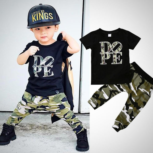 Dope 2pcs Outfit -  Hipster Kids Style. Youth Clothing and apparel Outfitters for hipster kids, toddlers, and babies.