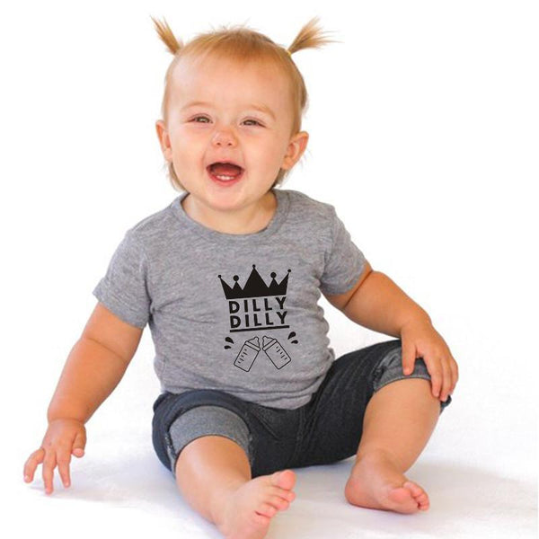 Dilly Dilly Baby Onesie -  Hipster Kids Style. Youth Clothing and apparel Outfitters for hipster kids, toddlers, and babies.