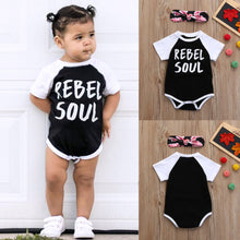Rebel Soul 2pc Baby Onesie and Headband Outfits -  Hipster Kids Style. Youth Clothing and apparel Outfitters for hipster kids, toddlers, and babies.