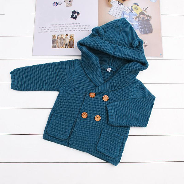 Baby Boy Winter Cardigan -  Hipster Kids Style. Youth Clothing and apparel Outfitters for hipster kids, toddlers, and babies.
