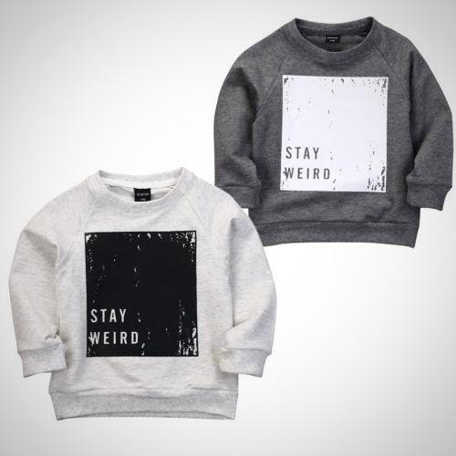 Stay Weird Sweatshirt -  Hipster Kids Style. Youth Clothing and apparel Outfitters for hipster kids, toddlers, and babies.