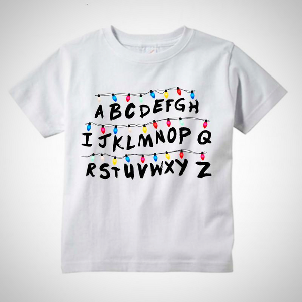 Stranger Things Will's Message T-Shirt -  Hipster Kids Style. Youth Clothing and apparel Outfitters for hipster kids, toddlers, and babies.