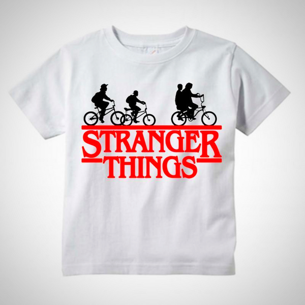 Stranger Things Bicycle Logo T-Shirt -  Hipster Kids Style. Youth Clothing and apparel Outfitters for hipster kids, toddlers, and babies.