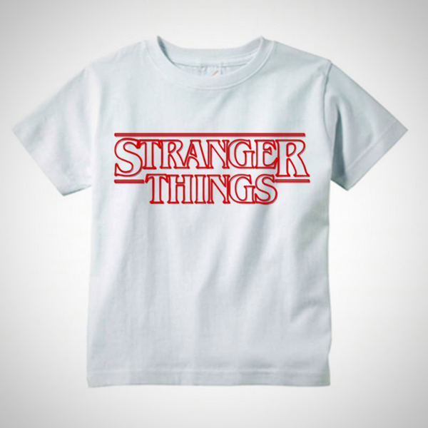 Stranger Things Logo T-Shirt -  Hipster Kids Style. Youth Clothing and apparel Outfitters for hipster kids, toddlers, and babies.