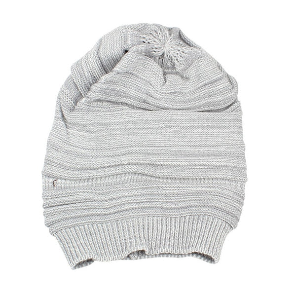 soft rabbit double knitting thick bonnet beanie