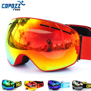 Ski goggles double layers UV400 anti-fog big ski mask glasses