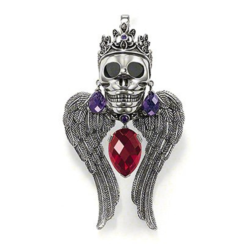Skull Crown Pendant ( without Necklace )