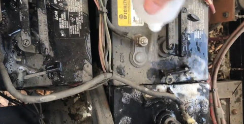 Rinse each battery before overall rinse