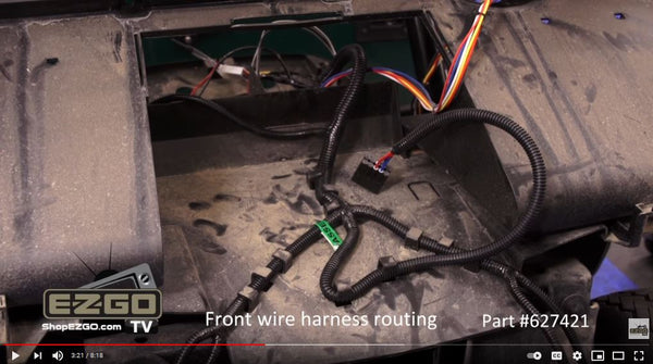 Wiring-harness at front