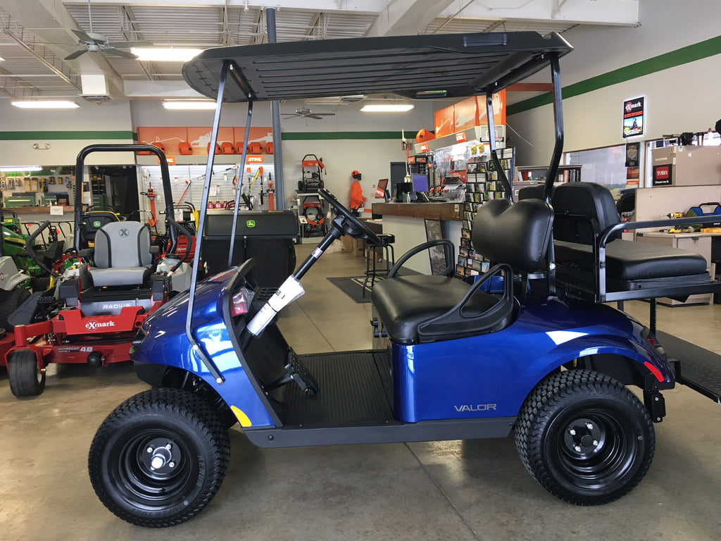 Valor Gas Golf Car in Electric Blue