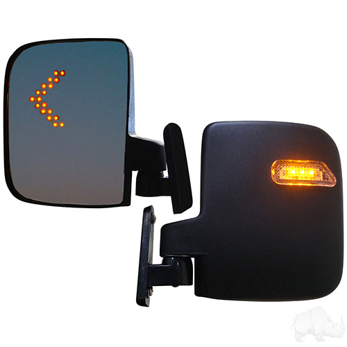 12V-48V Side LED Mirror (SET of 2) | Cart Parts Direct