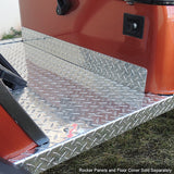 Diamond Plate Kick Plate Installed | Cart Parts Direct