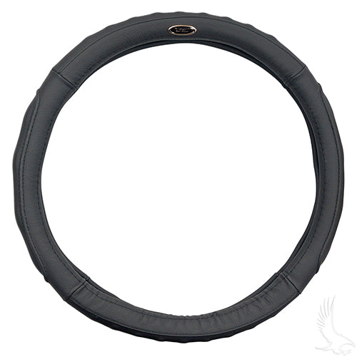 Black Leather Steering Wheel Cover (13.65
