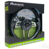 "13"" Aviator 4 Carbon Fiber/Brushed Aluminum Steering Wheel Packaging 