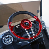 "13"" Aviator 4 Red/Black Steering Wheel Installed 