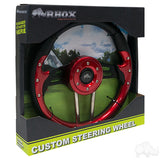 "13"" Aviator 4 Red/Black Steering Wheel Packaging 